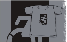 Accessible Exit Sign Project Wheelchair Wheelie Running Man Symbol Means of Egress Icon Disability Emergency Evacuation Fire Safety Kids T-shirts 79