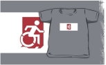 Accessible Exit Sign Project Wheelchair Wheelie Running Man Symbol Means of Egress Icon Disability Emergency Evacuation Fire Safety Kids T-shirts 84