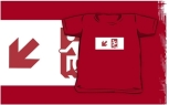 Accessible Exit Sign Project Wheelchair Wheelie Running Man Symbol Means of Egress Icon Disability Emergency Evacuation Fire Safety Kids T-shirts 88