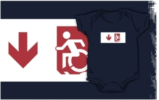 Accessible Exit Sign Project Wheelchair Wheelie Running Man Symbol Means of Egress Icon Disability Emergency Evacuation Fire Safety Kids T-shirts 89