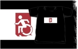 Accessible Exit Sign Project Wheelchair Wheelie Running Man Symbol Means of Egress Icon Disability Emergency Evacuation Fire Safety Kids T-shirts 90