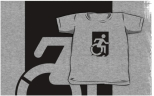 Accessible Exit Sign Project Wheelchair Wheelie Running Man Symbol Means of Egress Icon Disability Emergency Evacuation Fire Safety Kids T-shirts 92