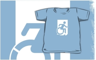 Accessible Exit Sign Project Wheelchair Wheelie Running Man Symbol Means of Egress Icon Disability Emergency Evacuation Fire Safety Kids T-shirts 94