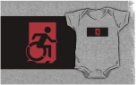 Accessible Exit Sign Project Wheelchair Wheelie Running Man Symbol Means of Egress Icon Disability Emergency Evacuation Fire Safety Kids T-shirts 99