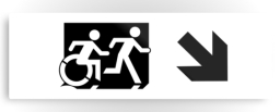 Accessible Exit Sign Project Wheelchair Wheelie Running Man Symbol Means of Egress Icon Disability Emergency Evacuation Fire Safety Metal Printed 115