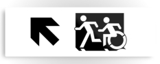 Accessible Exit Sign Project Wheelchair Wheelie Running Man Symbol Means of Egress Icon Disability Emergency Evacuation Fire Safety Metal Printed 121
