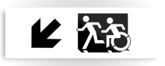 Accessible Exit Sign Project Wheelchair Wheelie Running Man Symbol Means of Egress Icon Disability Emergency Evacuation Fire Safety Metal Printed 122