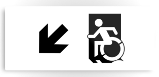 Accessible Exit Sign Project Wheelchair Wheelie Running Man Symbol Means of Egress Icon Disability Emergency Evacuation Fire Safety Metal Printed 47