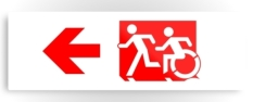 Accessible Exit Sign Project Wheelchair Wheelie Running Man Symbol Means of Egress Icon Disability Emergency Evacuation Fire Safety Metal Printed 61