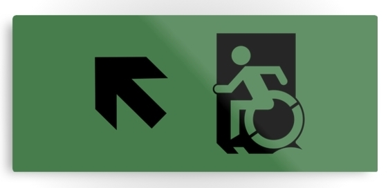 Accessible Exit Sign Project Wheelchair Wheelie Running Man Symbol