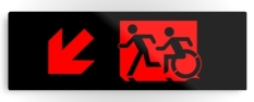 Accessible Exit Sign Project Wheelchair Wheelie Running Man Symbol Means of Egress Icon Disability Emergency Evacuation Fire Safety Metal Printed 76