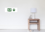 Accessible Exit Sign Project Wheelchair Wheelie Running Man Symbol Means of Egress Icon Disability Emergency Evacuation Fire Safety Poster 103