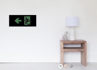 Accessible Exit Sign Project Wheelchair Wheelie Running Man Symbol Means of Egress Icon Disability Emergency Evacuation Fire Safety Poster 106