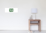 Accessible Exit Sign Project Wheelchair Wheelie Running Man Symbol Means of Egress Icon Disability Emergency Evacuation Fire Safety Poster 111