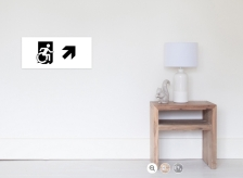 Accessible Exit Sign Project Wheelchair Wheelie Running Man Symbol Means of Egress Icon Disability Emergency Evacuation Fire Safety Poster 113