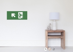 Accessible Exit Sign Project Wheelchair Wheelie Running Man Symbol Means of Egress Icon Disability Emergency Evacuation Fire Safety Poster 116