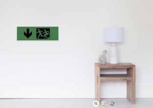Accessible Exit Sign Project Wheelchair Wheelie Running Man Symbol Means of Egress Icon Disability Emergency Evacuation Fire Safety Poster 123