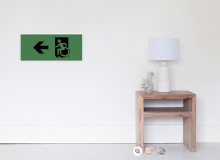 Accessible Exit Sign Project Wheelchair Wheelie Running Man Symbol Means of Egress Icon Disability Emergency Evacuation Fire Safety Poster 19