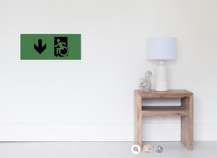 Accessible Exit Sign Project Wheelchair Wheelie Running Man Symbol Means of Egress Icon Disability Emergency Evacuation Fire Safety Poster 22