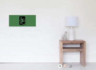 Accessible Exit Sign Project Wheelchair Wheelie Running Man Symbol Means of Egress Icon Disability Emergency Evacuation Fire Safety Poster 23
