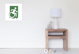 Accessible Exit Sign Project Wheelchair Wheelie Running Man Symbol Means of Egress Icon Disability Emergency Evacuation Fire Safety Poster 28