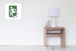 Accessible Exit Sign Project Wheelchair Wheelie Running Man Symbol Means of Egress Icon Disability Emergency Evacuation Fire Safety Poster 29