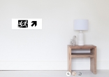 Accessible Exit Sign Project Wheelchair Wheelie Running Man Symbol Means of Egress Icon Disability Emergency Evacuation Fire Safety Poster 3