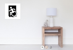 Accessible Exit Sign Project Wheelchair Wheelie Running Man Symbol Means of Egress Icon Disability Emergency Evacuation Fire Safety Poster 31