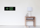 Accessible Exit Sign Project Wheelchair Wheelie Running Man Symbol Means of Egress Icon Disability Emergency Evacuation Fire Safety Poster 34