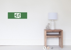 Accessible Exit Sign Project Wheelchair Wheelie Running Man Symbol Means of Egress Icon Disability Emergency Evacuation Fire Safety Poster 44
