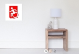Accessible Exit Sign Project Wheelchair Wheelie Running Man Symbol Means of Egress Icon Disability Emergency Evacuation Fire Safety Poster 50