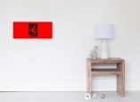 Accessible Exit Sign Project Wheelchair Wheelie Running Man Symbol Means of Egress Icon Disability Emergency Evacuation Fire Safety Poster 5