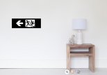 Accessible Exit Sign Project Wheelchair Wheelie Running Man Symbol Means of Egress Icon Disability Emergency Evacuation Fire Safety Poster 60