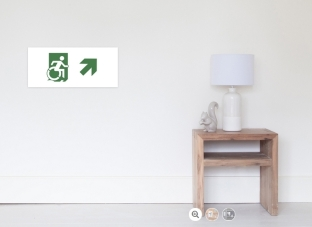 Accessible Exit Sign Project Wheelchair Wheelie Running Man Symbol Means of Egress Icon Disability Emergency Evacuation Fire Safety Poster 87