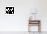 Accessible Exit Sign Project Wheelchair Wheelie Running Man Symbol Means of Egress Icon Disability Emergency Evacuation Fire Safety Poster 88
