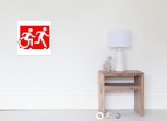 Accessible Exit Sign Project Wheelchair Wheelie Running Man Symbol Means of Egress Icon Disability Emergency Evacuation Fire Safety Poster 97