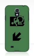 Accessible Exit Sign Project Wheelchair Wheelie Running Man Symbol Means of Egress Icon Disability Emergency Evacuation Fire Safety Samsung Galaxy Case 100
