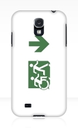 Accessible Exit Sign Project Wheelchair Wheelie Running Man Symbol Means of Egress Icon Disability Emergency Evacuation Fire Safety Samsung Galaxy Case 101