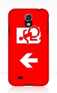 Accessible Exit Sign Project Wheelchair Wheelie Running Man Symbol Means of Egress Icon Disability Emergency Evacuation Fire Safety Samsung Galaxy Case 10