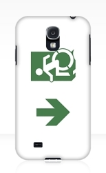 Accessible Exit Sign Project Wheelchair Wheelie Running Man Symbol Means of Egress Icon Disability Emergency Evacuation Fire Safety Samsung Galaxy Case 102