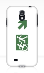 Accessible Exit Sign Project Wheelchair Wheelie Running Man Symbol Means of Egress Icon Disability Emergency Evacuation Fire Safety Samsung Galaxy Case 103