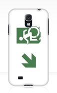 Accessible Exit Sign Project Wheelchair Wheelie Running Man Symbol Means of Egress Icon Disability Emergency Evacuation Fire Safety Samsung Galaxy Case 104