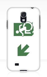 Accessible Exit Sign Project Wheelchair Wheelie Running Man Symbol Means of Egress Icon Disability Emergency Evacuation Fire Safety Samsung Galaxy Case 105