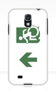 Accessible Exit Sign Project Wheelchair Wheelie Running Man Symbol Means of Egress Icon Disability Emergency Evacuation Fire Safety Samsung Galaxy Case 107
