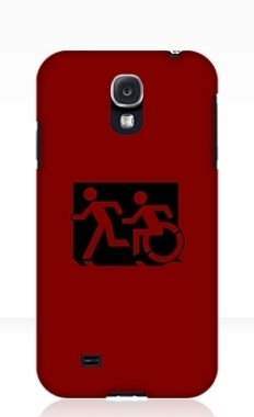 Accessible Exit Sign Project Wheelchair Wheelie Running Man Symbol Means of Egress Icon Disability Emergency Evacuation Fire Safety Samsung Galaxy Case 108