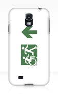 Accessible Exit Sign Project Wheelchair Wheelie Running Man Symbol Means of Egress Icon Disability Emergency Evacuation Fire Safety Samsung Galaxy Case 109