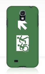 Accessible Exit Sign Project Wheelchair Wheelie Running Man Symbol Means of Egress Icon Disability Emergency Evacuation Fire Safety Samsung Galaxy Case 11