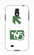 Accessible Exit Sign Project Wheelchair Wheelie Running Man Symbol Means of Egress Icon Disability Emergency Evacuation Fire Safety Samsung Galaxy Case 111