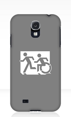 Accessible Exit Sign Project Wheelchair Wheelie Running Man Symbol Means of Egress Icon Disability Emergency Evacuation Fire Safety Samsung Galaxy Case 112