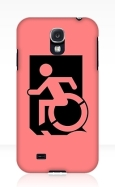 Accessible Exit Sign Project Wheelchair Wheelie Running Man Symbol Means of Egress Icon Disability Emergency Evacuation Fire Safety Samsung Galaxy Case 113